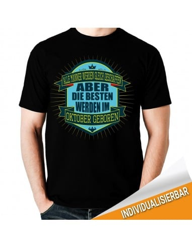 Alle Männer werden gleich geschaffen Oktober T-Shirt Hoodie Geburtstag 18,90 €