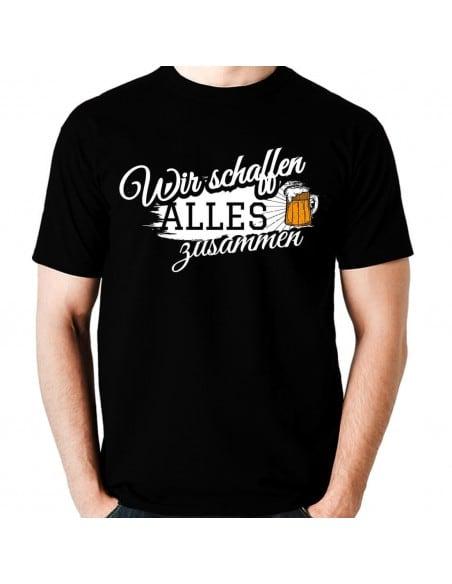 Wir schaffen alles zusammen Bier T-Shirt Paar-Shirts 18,90 €