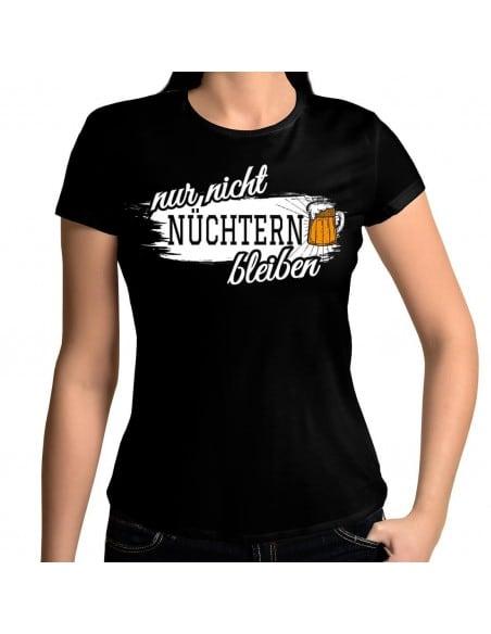 Nur nicht nüchtern bleiben Bier T-Shirt Paar-Shirts 18,90 €