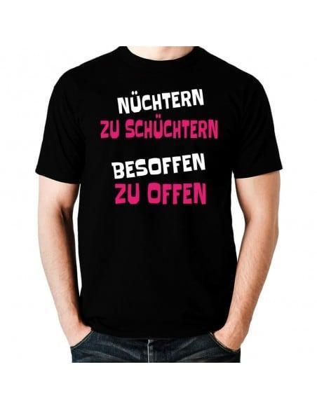 Nüchtern zu schüchtern besoffen zu offen T-Shirt Hoodie Party, Fun & Urlaub 18,90 €