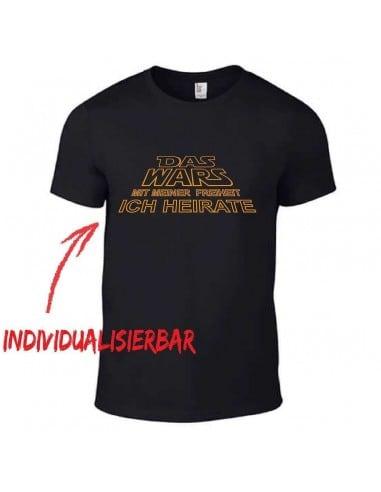 Das Wars mit meiner Freiheit JGA T-Shirt JGA 16,50 €