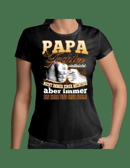 Papa und Tochter vielleicht nicht immer einer Meinung aber immer ein Herz und eine Seele T-Shirt Hoodie Baby & Familie  18,90 €