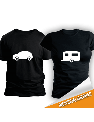 Paarshirt schwarz 2er-Set - Auto und Hänger T-Shirt Paar-Shirts 30,00 €