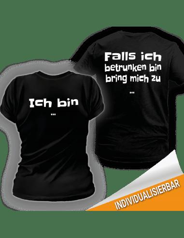 Paarshirt schwarz 2er-Set - Falls ich betrunken bin bring mich zu T-Shirts Paar-Shirts 30,00 €