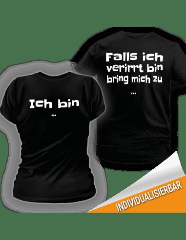 Paarshirt schwarz 2er-Set - Falls ich verirrt bin bring mich zu T-Shirt Paar-Shirts 30,00 €
