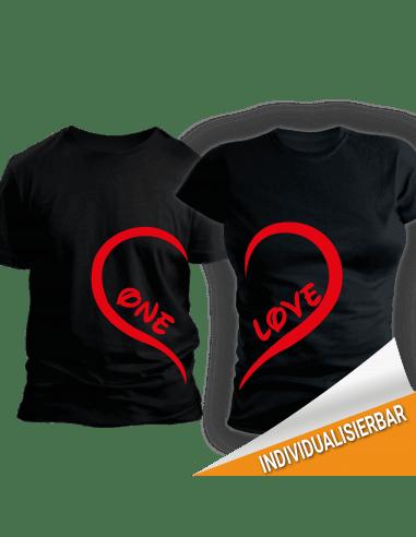 Paarshirt schwarz 2er-Set One LOVE T-Shirt Paar-Shirts 30,00 €