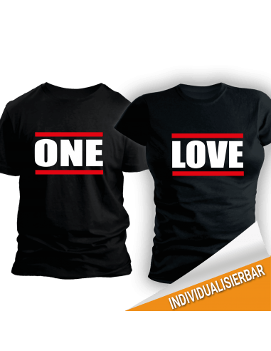 Paarshirt schwarz 2er-Set One LOVE T-Shirt 2 Paar-Shirts 30,00 €