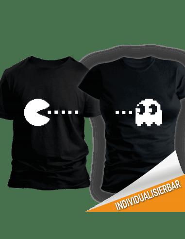 Paarshirt schwarz 2er-Set Pacman Retro Shirt Paar-Shirts 30,00 €