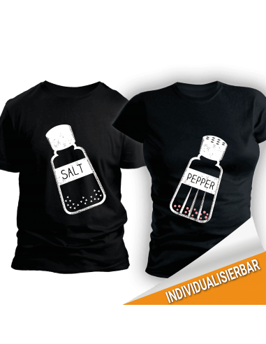 Paarshirt schwarz 2er-Set Salt & Pepper T-Shirt Paar-Shirts 30,00 €