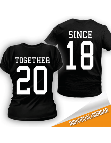 Paarshirt schwarz 2er-Set Together since T-Shirt Paar-Shirts 30,00 €