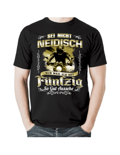 SEI NICHT NEIDISCH! Fünfzig Geburtstag T-Shirt Hoodie 50 Jahre Goldgelb Geburtstag 18,90 €
