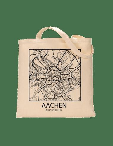 "Jutebeutel nature \\""Aachen Sky Block Kontur \\"" Zubehör & Geschenke 9,99 €"
