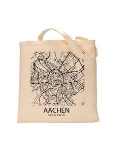 "Jutebeutel nature \\""Aachen Sky Block \\"" Zubehör & Geschenke 9,99 €"
