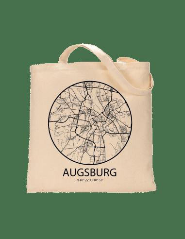 """Jutebeutel nature \\""""Augsburg Sky Eye Kontur\\"""" Zubehör & Geschenke 9,99 €"""