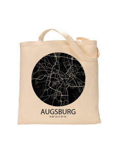"""Jutebeutel nature \\""""Augsburg Sky Eye negativ\\"""" Zubehör & Geschenke 9,99 €"""