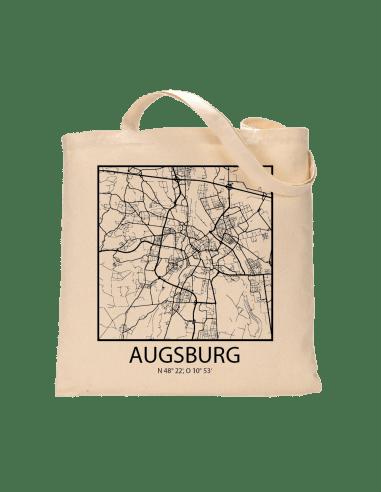 """Jutebeutel nature \\""""Augsburg Sky Block Kontur\\"""" Zubehör & Geschenke 9,99 €"""