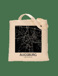 """Jutebeutel nature \\""""Augsburg Sky Block negativ \\"""" Zubehör & Geschenke 9,99 €"""