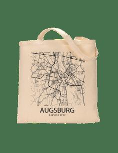 """Jutebeutel nature \\""""Augsburg Sky Block \\"""" Zubehör & Geschenke 9,99 €"""