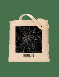 """Jutebeutel nature \\""""Berlin Sky Eye Block negativ \\"""" Zubehör & Geschenke 9,99 €"""