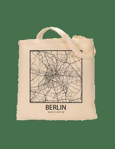 "Jutebeutel nature \\""Berlin Sky Eye Block Kontur\\"" Zubehör & Geschenke 9,99 €"