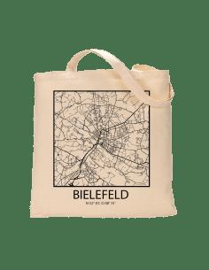 """Jutebeutel nature \\""""Bielefeld Sky Block mit Kontur\\"""" Zubehör & Geschenke 9,99 €"""