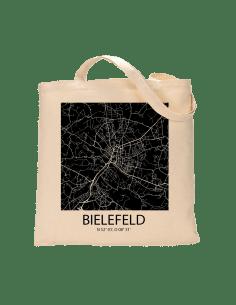 """Jutebeutel nature \\""""Bielefeld Sky Block negativ\\"""" Zubehör & Geschenke 9,99 €"""