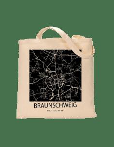 """Jutebeutel nature \\""""Braunschweig Sky Block negativ\\"""" Zubehör & Geschenke 9,99 €"""