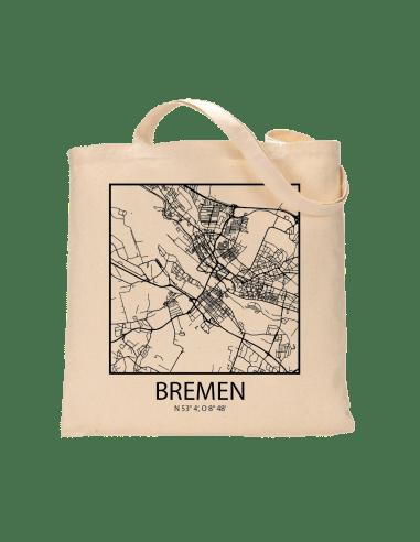 """Jutebeutel nature \\""""Bremen Sky Block mit Kontur\\"""" Zubehör & Geschenke 9,99 €"""