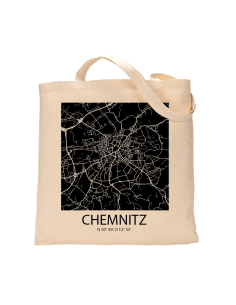 """Jutebeutel nature \\""""Chemnitz Sky Block negativ\\"""" Zubehör & Geschenke 9,99 €"""