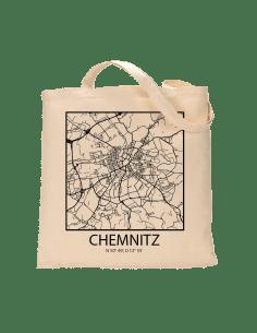 """Jutebeutel nature \\""""Chemnitz Sky Block mit Kontur\\"""" Zubehör & Geschenke 9,99 €"""