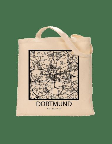 """Jutebeutel nature \\""""Dortmund Sky Block mit Kontur\\"""" Zubehör & Geschenke 9,99 €"""