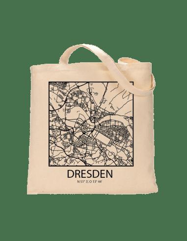 """Jutebeutel nature \\""""Dresden Sky Block mit Kontur\\"""" Zubehör & Geschenke 9,99 €"""