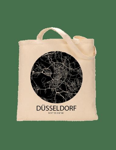 """Jutebeutel nature \\""""Düsseldorf Sky Eye negativ\\"""" Zubehör & Geschenke 9,99 €"""