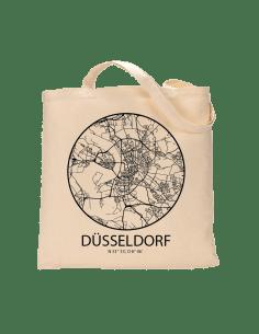 """Jutebeutel nature \\""""Düsseldorf Sky Eye Kontur\\"""" Zubehör & Geschenke 9,99 €"""