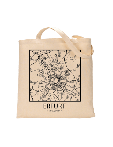 "Jutebeutel nature \\""Erfurt Sky Block Kontur\\"" Zubehör & Geschenke 9,99 €"