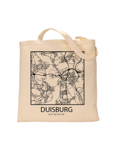 "Jutebeutel nature \\""Duisburg Sky Block Kontur\\"" Zubehör & Geschenke 9,99 €"