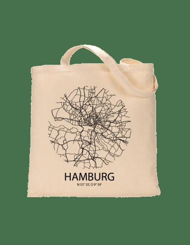 """Jutebeutel nature \\""""Hamburg Sky Eye\\"""" Zubehör & Geschenke 9,99 €"""