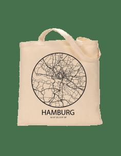 """Jutebeutel nature \\""""Hamburg Sky Eye Kontur\\"""" Zubehör & Geschenke 9,99 €"""