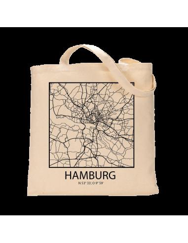 """Jutebeutel nature \\""""Hamburg Sky Block Kontur\\"""" Zubehör & Geschenke 9,99 €"""