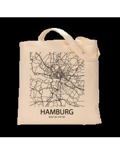 """Jutebeutel nature \\""""Hamburg Sky Block\\"""" Zubehör & Geschenke 9,99 €"""