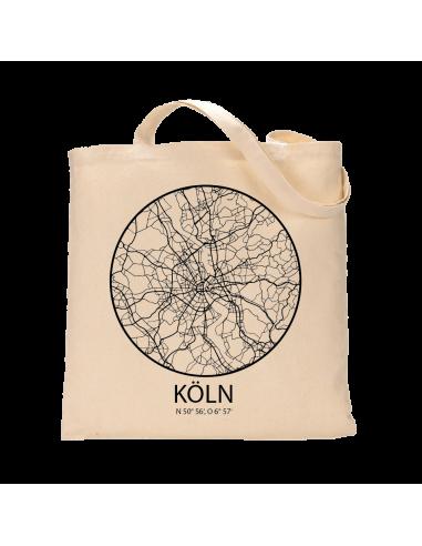 """Jutebeutel nature \\""""Köln Sky Eye Kontur\\"""" Zubehör & Geschenke 9,99 €"""