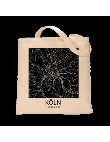 """Jutebeutel nature \\""""Köln Sky Block negativ\\"""" Zubehör & Geschenke 9,99 €"""