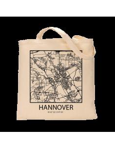 """Jutebeutel nature \\""""Hannover Sky Block Kontur\\"""" Zubehör & Geschenke 9,99 €"""