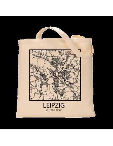 """Jutebeutel nature \\""""Leipzig Sky Block Kontur\\"""" Zubehör & Geschenke 9,99 €"""