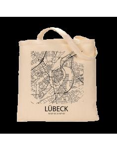 """Jutebeutel nature \\""""Lübeck Sky Block\\"""" Zubehör & Geschenke 9,99 €"""