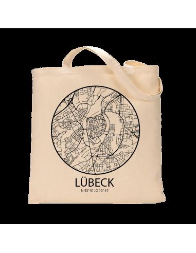 """Jutebeutel nature \\""""Lübeck Sky Eye Kontur\\"""" Zubehör & Geschenke 9,99 €"""