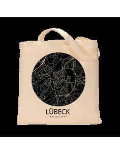 """Jutebeutel nature \\""""Lübeck Sky Eye negativ\\"""" Zubehör & Geschenke 9,99 €"""