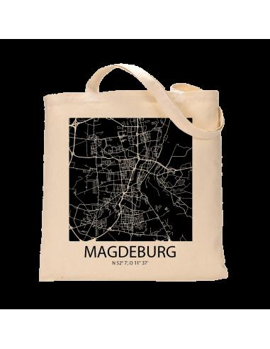 """Jutebeutel nature \\""""Magdeburg Sky Block negativ\\"""" Zubehör & Geschenke 9,99 €"""
