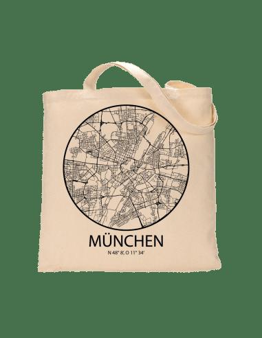 """Jutebeutel nature \\""""München Sky Eye Kontur\\"""" Zubehör & Geschenke 9,99 €"""
