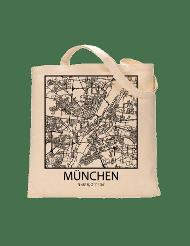 """Jutebeutel nature \\""""München Sky Block Kontur\\"""" Zubehör & Geschenke 9,99 €"""